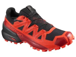 SALOMON OBUV SPIKECROSS 5 GTX BLACK/RACRD/RED