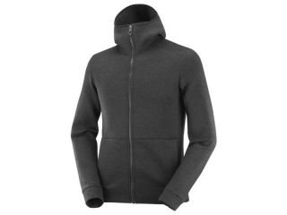 SALOMON MIKINA SIGHT HOODIE M BLACK/HEATHER