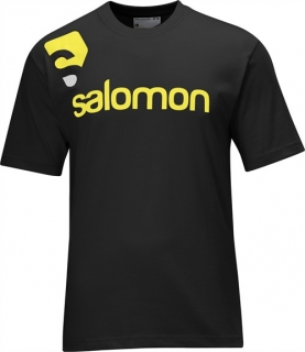 SALOMON COTTON POLY TEE M BLACK