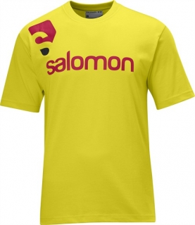 SALOMON COTTON POLY TEE M YELLOW