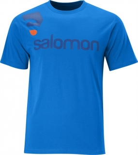 SALOMON CONTOUR SS COTTON TEE M BLUE