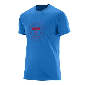SALOMON MOUNT SIGN SS COTTON TEE BLUE