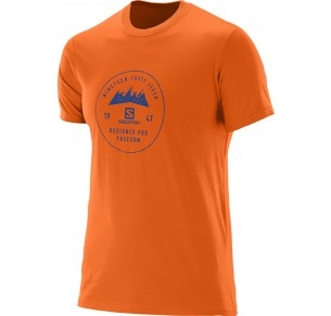 SALOMON MOUNT SIGN SS COTTON TEE ORA