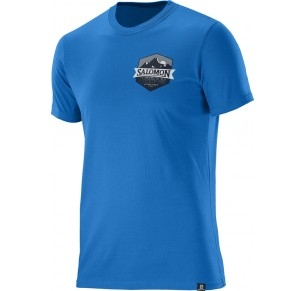 SALOMON ULTIMATE SS COTTON TEE BLUE