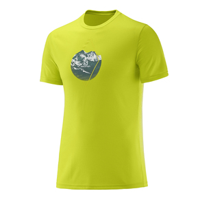 SALOMON X ALP GRAPHIC SS TEE LIME