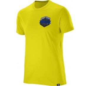 SALOMON ULTIMATE SS COTTON TEE YELLOW