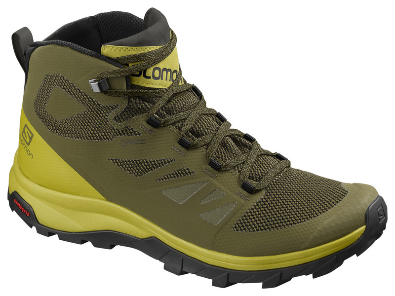 SALOMON OUTLINE MID GTX BURNT OLIVCITR