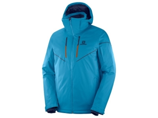SALOMON BUNDA STORMRACE JACKET M FJORD BLUE