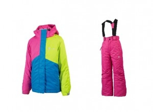 GTS SKI SET GIRL PINKLIMEBLU