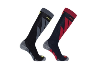 SALOMON SKI SOCKS SACCESS MEN BLKRED