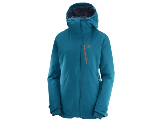 SALOMON BUNDA QST SNOW JKT W DEEP LAGOON