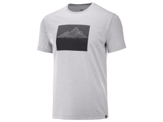 SALOMON AGILE GRAPHIC TEE M ALLOYHEATHER