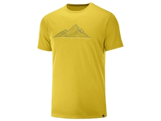 SALOMON AGILE GRAPHIC TEE M LEMCU HEATHER