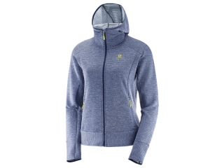 SALOMON  MIKINA RIGHFT NICE MID HOODIE BLUE